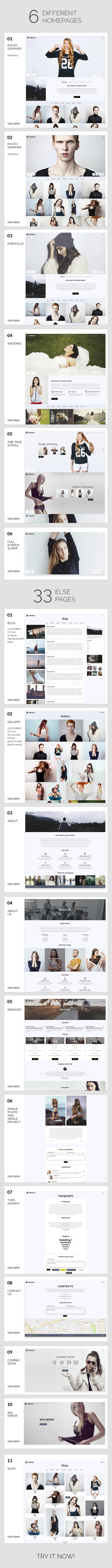 Photography   Maroon Photography WordPress Theme for Photography - 5