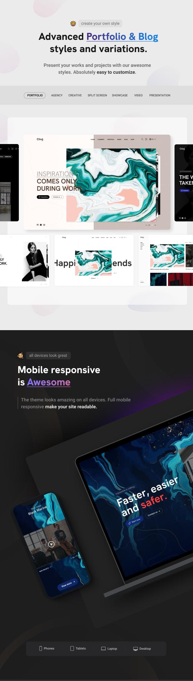 Clivo - Portfolio & Agency WordPress Theme - 10