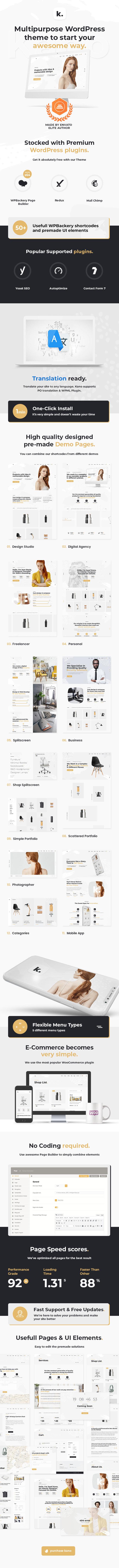 Kano - Creative MultiPurpose WordPress Theme - 5