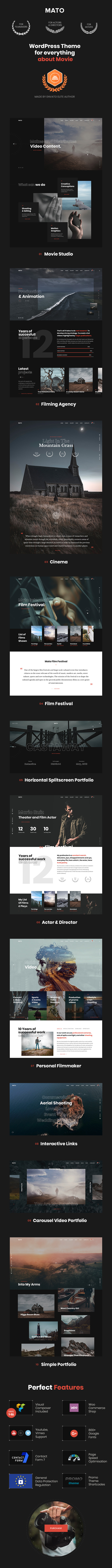 Mato | Movie Studios and Filmmakers WordPress Theme - 4