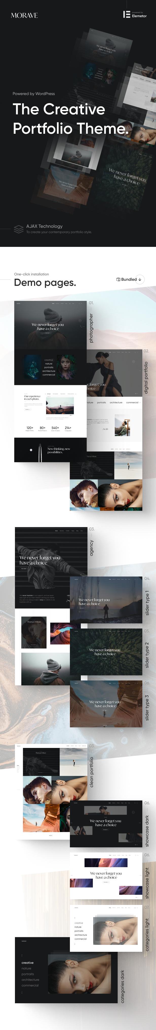 Morave - AJAX Portfolio WordPress Theme - 5