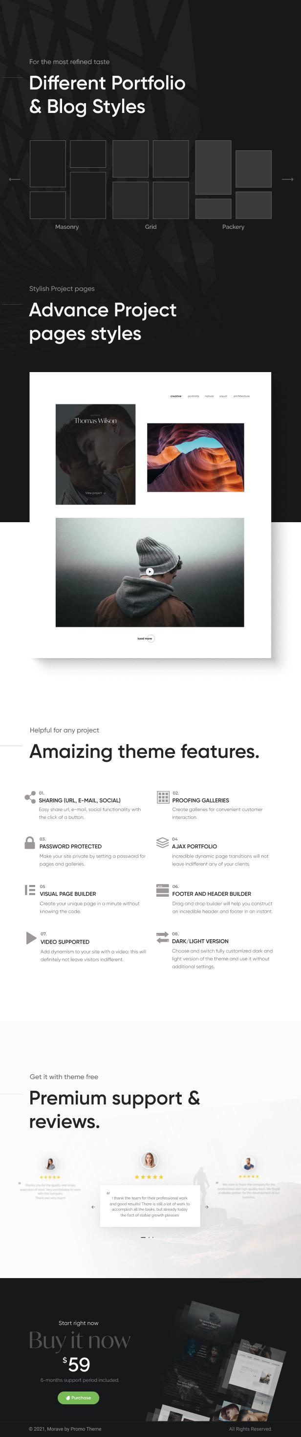 Morave - AJAX Portfolio WordPress Theme - 8