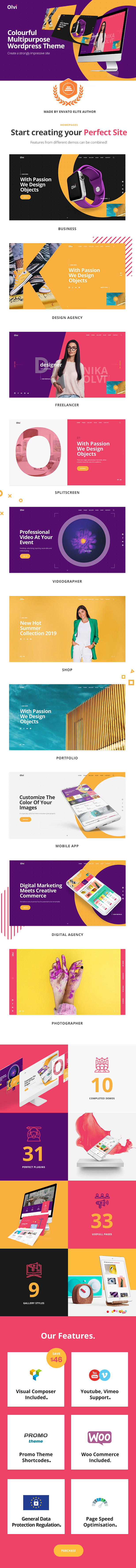 Olvi | A Creative MultiPurpose WordPress Theme - 5