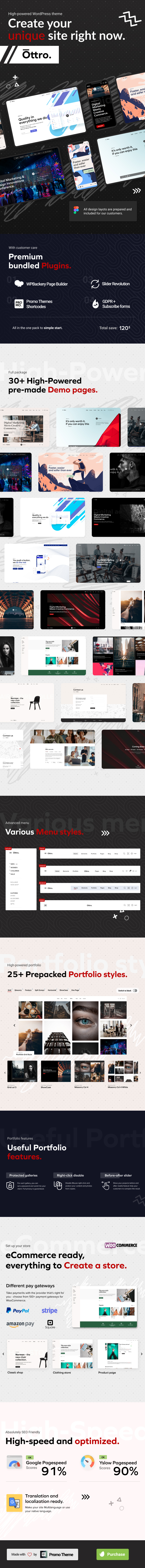 Description Ottro - Contemporary MultiPurpose WordPress Theme theme