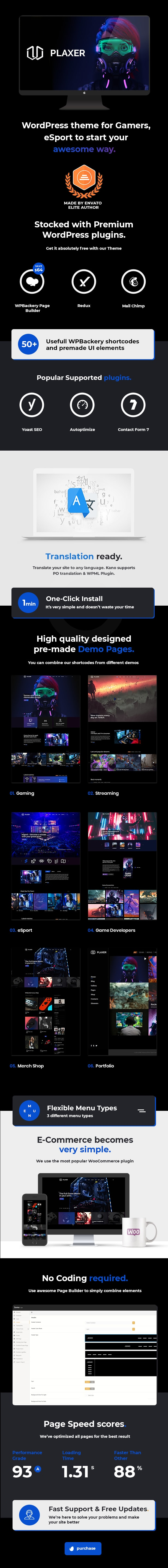 Plaxer - Gaming and eSports WordPress Theme - 4