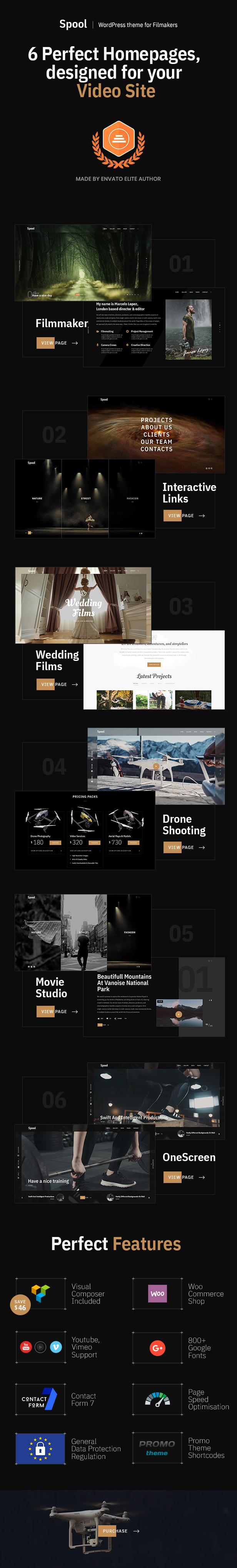 Spool - Movie Studios and Filmmakers WordPress Theme - 4